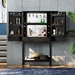 BDI Cosmo Ebonized Ash Modern Bar Cabinet - Room Setting, Open, Dressed