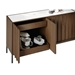 BDI Cosmo Modern Storage Console in Toasted Walnut - Detail Open