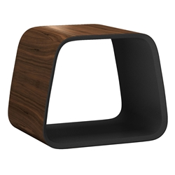 Cowley Walnut Modern Stool by Modloft Black