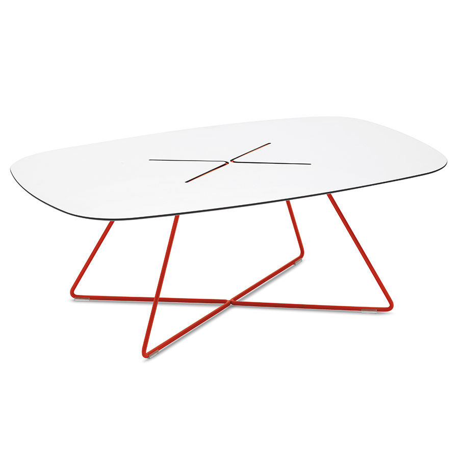 Modern cocktail tables craig red coffee table eurway for Red modern coffee table