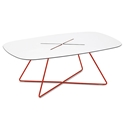 Craig Red Modern Coffee Table