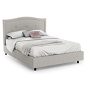 Crocus Contemporary Bed in Sleet by Amisco