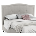 Crocus Contemporary Upholstered Headboard in Sleet Fabric by Amisco
