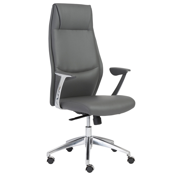 Euro Style Crosby Modern Gray High Back Office Chair