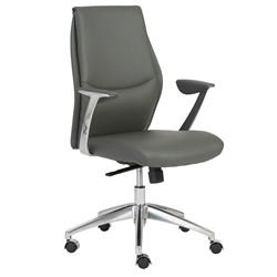 Crosby Modern Low Back Office Chair in Gray