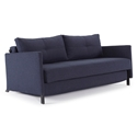 Cubed Modern Sofa Sleeper w/ Arms in Blue by Innovation