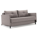 Cubed Modern Sofa Sleeper w/ Arms in Grey by Innovation