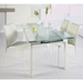 Dalia White Dining Chair by Euro Style