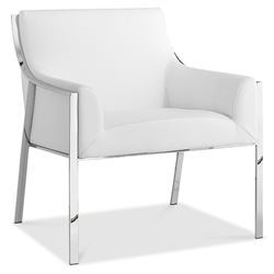 Dalton White Modern Lounge Chair by Whiteline