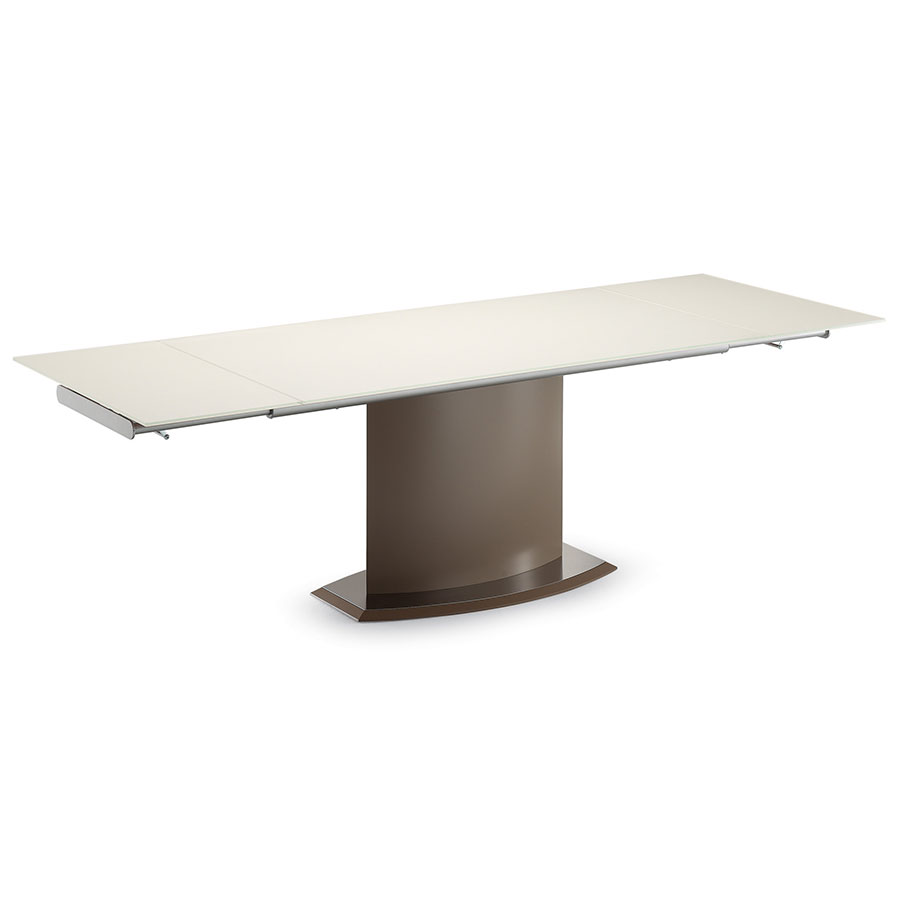 Danae Taupe Modern Extension Table by Domitalia