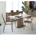 Danae Taupe Modern Extension Dining Table Room