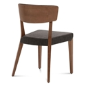 Dane Walnut + Brown Modern Dining Chair