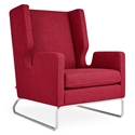 Gus* Modern Danforth Modern Lounge Chair in Andorra Sumac