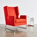 Gus* Modern Danforth Chair In Laurentian Sunset Fabric Upholstery