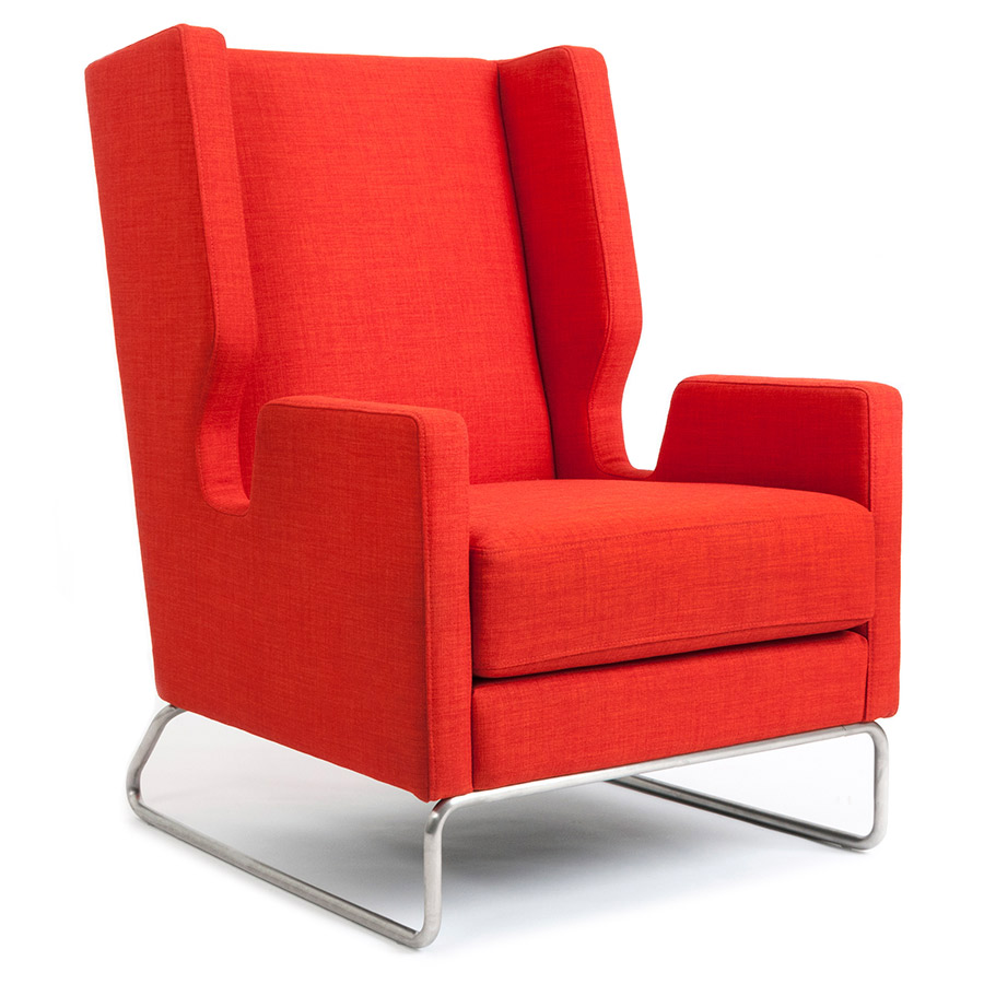 Danforth Contemporary Lounge Chair In Lauian Sunsetby Gus Modern