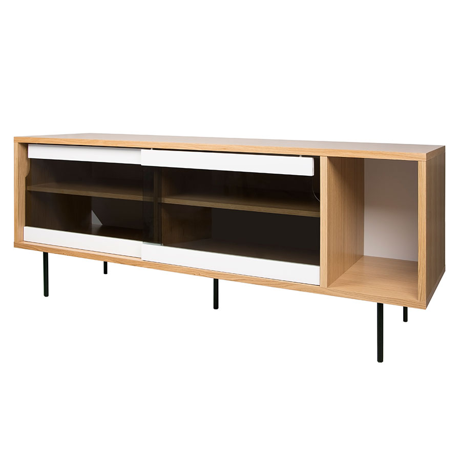 Elegant Sideboard Modern Foto Von Dann Oak + Glass + Black Contemporary
