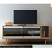 Dann Oak + Glass + Black Contemporary Sideboard Room