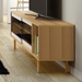 Dann Oak + Glass Contemporary Sideboard Lifestyle
