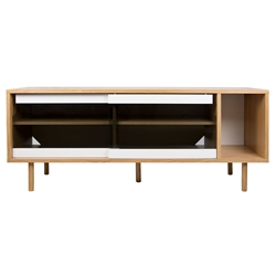 Dann Oak + Glass Contemporary Sideboard