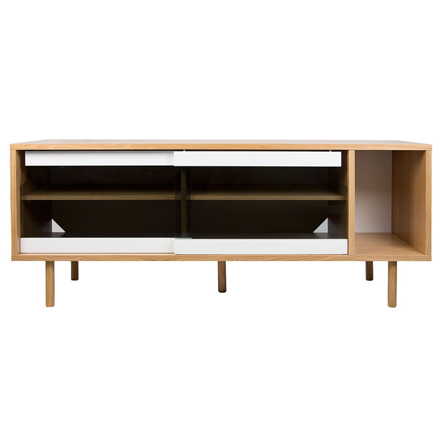 Dann Oak + Glass Contemporary Sideboard by TemaHome