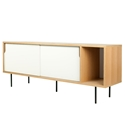 Dann Oak + White + Black Contemporary Sideboard
