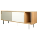 Dann Oak + White + Gray + Black Contemporary Sideboard by TemaHome