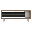 Dann Walnut + Glass Contemporary Sideboard