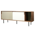 Dann Walnut + White + Gray + Black Contemporary Sideboard