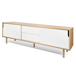 Dann Wide Oak + White Modern Sideboard
