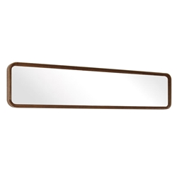 "Distrikt 24"" Rectangle Smoked Oak Modern Wall Mirror"