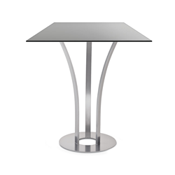 Dalia Black Glass + Metal Modern Counter Height Table by Amisco