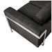 Gus Modern Davenport Sofa in Urban Tweed Truffle