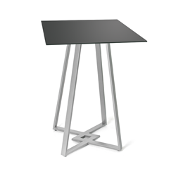 Dirk Black Glass + Metal Counter Height Table by Amisco