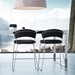 Modloft Delancey Black Eco Leather + Chromed Steel Modern Counter Stool - Room Setting