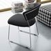 Modloft Delancey Modern Dining Chair in Black Eco Leather with Chrome - Lifestyle