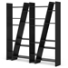 Delta Quad Black Modern Bookcase by TemaHome