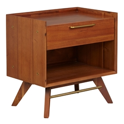 Unique Furniture Denali Modern 1-Drawer Nightstand
