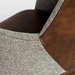 Desara Modern Light Brown Tilting Office Chair - Stitch Detail