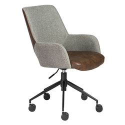 Desara Modern Light Brown Tilting Office Chair