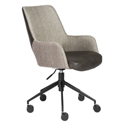 Desara Modern Gray Tilting Office Chair