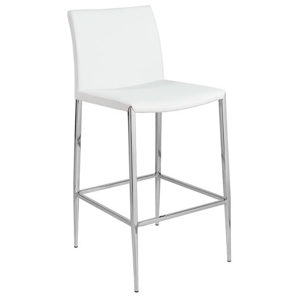 Euro Style Diana Modern White Stackable Counter Stool