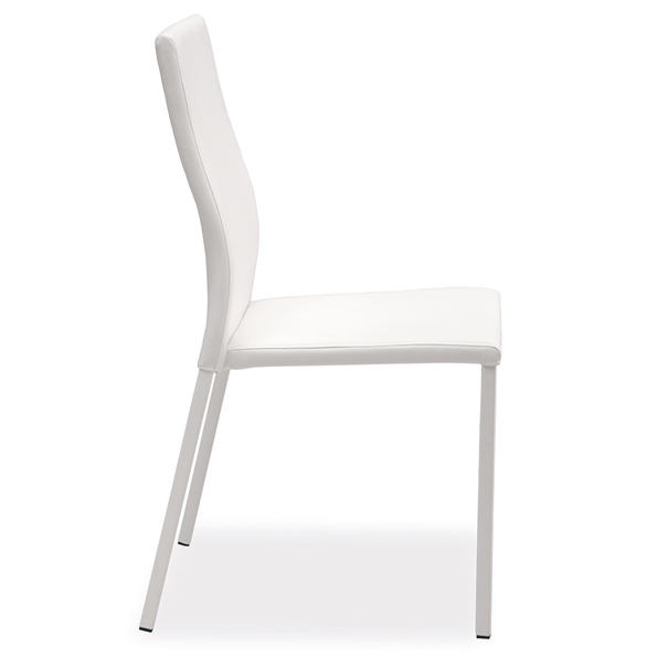 Diana White Modern Dining Side Chair by Pezzan