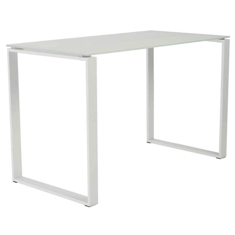 Diego modern desk in white