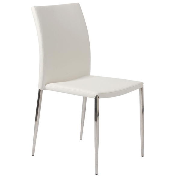 Dilys Modern White Stackable Side Chair