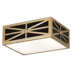 Directoire Small Contemporary Flush Mount