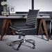 Euro Style Dirk Modern Armless Black Low Back Office Chair