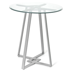 Dirk Bar Table by Amsico with Glass Top