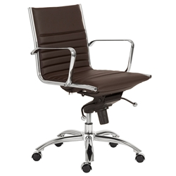 Dirk Modern Brown Low Back Office Chair by Euro Style