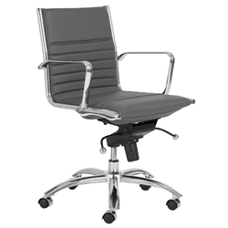 Dirk Modern Gray Low Back Office Chair by Euro Style