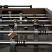 District Eight Smoked Oak Rustic Industrial Style Foosball Table By Nuevo - Players Detail